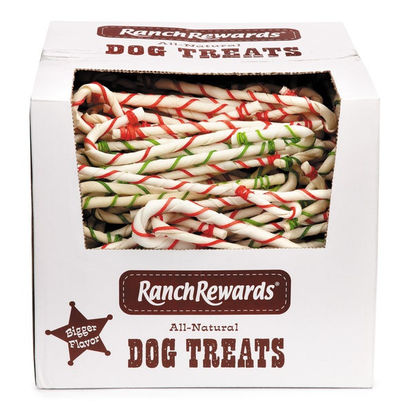 Ranch Rewards Rawhide Candy Cane Dog Treats (Case of 550)