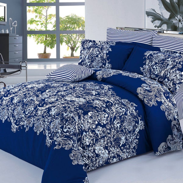 Alexis 100-percent Cotton 4-piece Duvet Cover Set