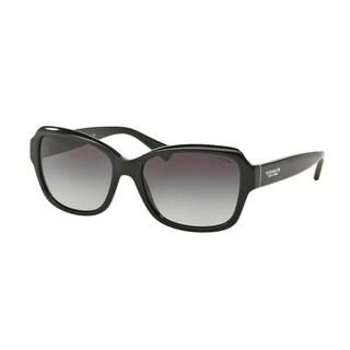 Coach Womens HC8160 500211 Black Oval Plastic Sunglasses