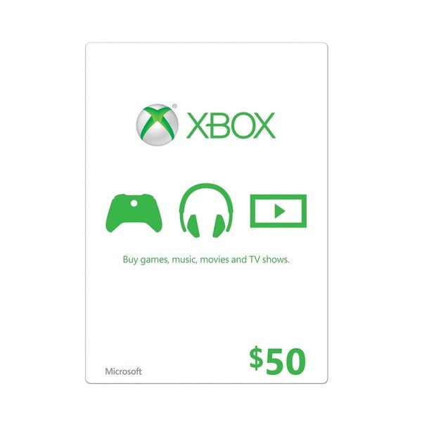Microsoft Live Card, $50 19270977