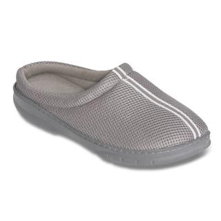 Men's Grey Mesh Memory Foam Slippers