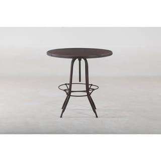 Adjustable Solid Mango Wood Top Bar Pub Table with Metal Legs