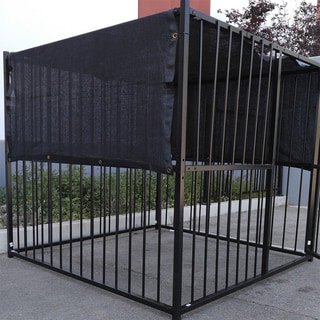 Black Synthetic Fiber 5' x 25' UV-rated Dog Kennel Shade Cover