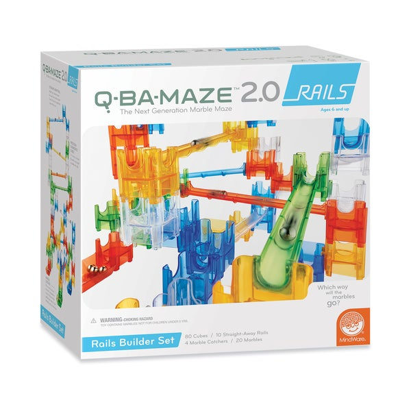 Q-BA-MAZE 2.0 Rails Builder Toy Construction Set