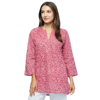 Pretty in Red Cotton tunic (Made in India)