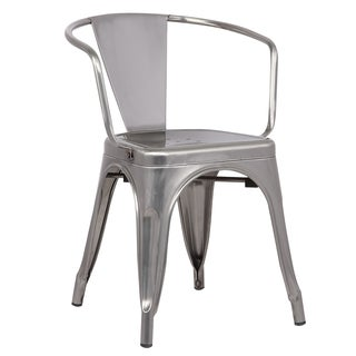 Edgemod Trattoria Metal Dining Arm Chairs (Set of 2)