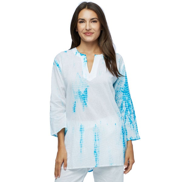 Blue Waters Shibori Cotton Tunic (India)