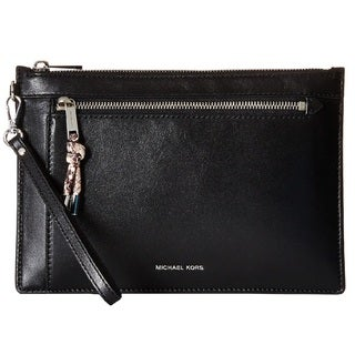 Michael Kors Isabel Extra Large Double Zip Black Clutch Handbag
