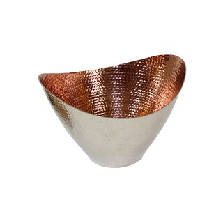 Hammered Copper Medium Oval Bowl