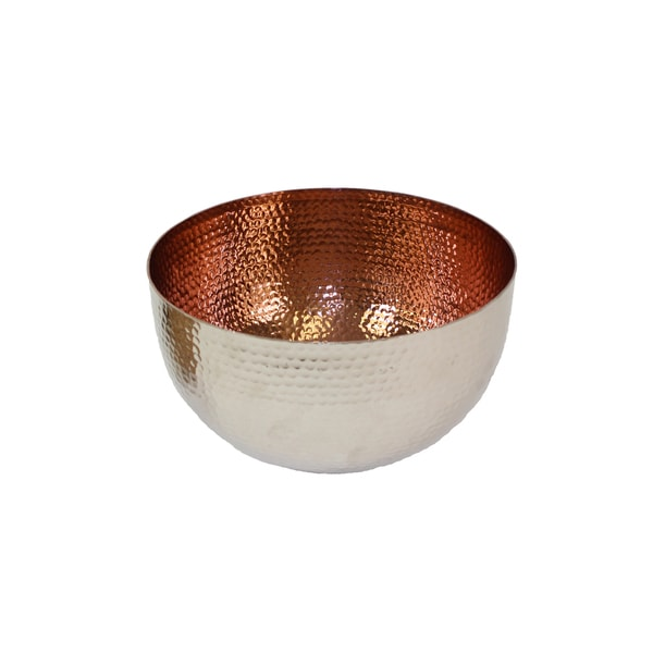 Silver Aluminum Medium Salad Bowl