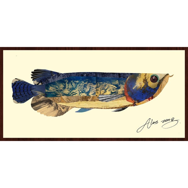 Empire Art Alex Zeng 'Arowana Collage' Framed Art