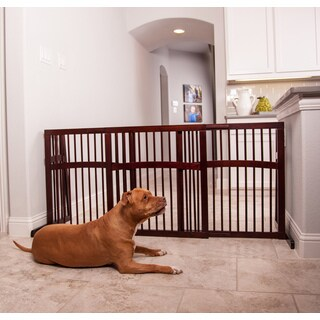 Primetime Petz Walnut-finished Wood Slide Pet Gate