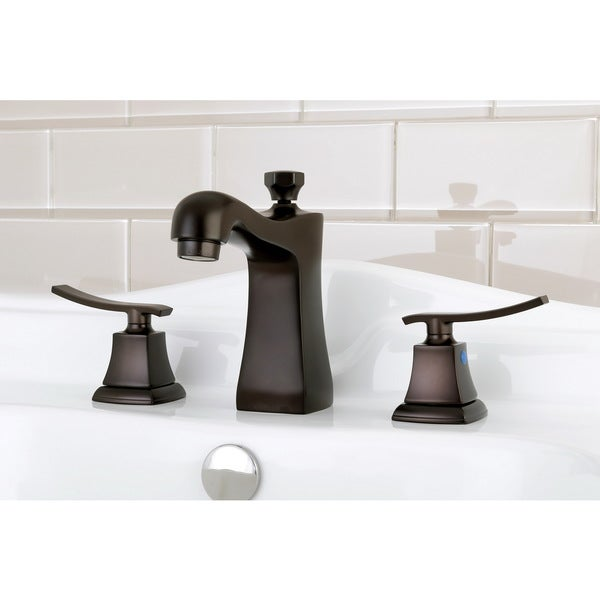 Euro Oil Rubbed Bronze Widespread Bathroom Faucet