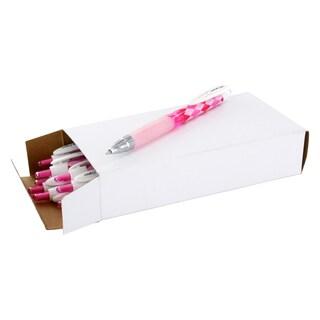 Uni-Ball 207 Argyle Pink Barrel/Black Ink Medium-point Retractable Gel Ballpoint Pen
