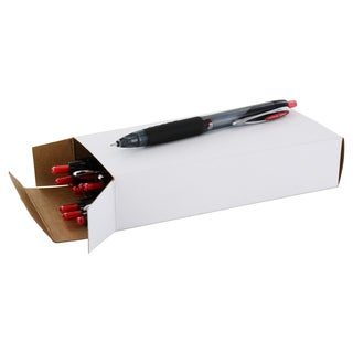 Uni-Ball Signo 207 Black Plastic Red Ink Retractable Medium Needle Point Gel Pens