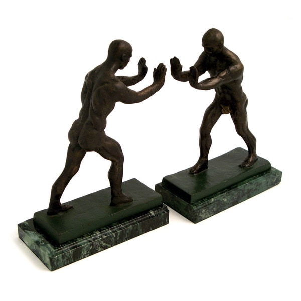 Atlas Brown Metal Bookends
