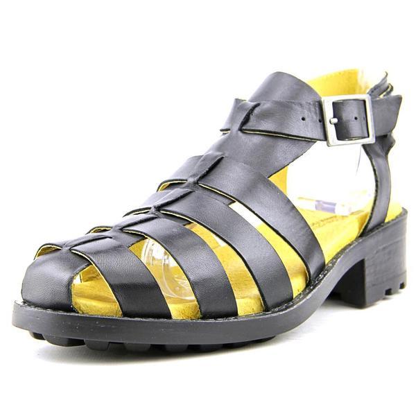 Eric Michael Women's Mykonos Black Leather Sandals