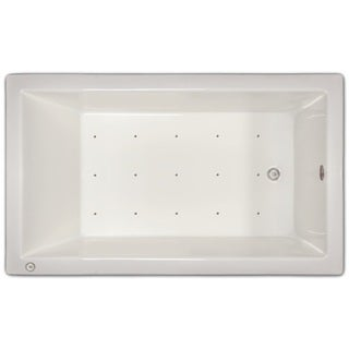 Signature Bath White Acrylic 59.5-inch x 35.5-inch Drop-in Air Bath