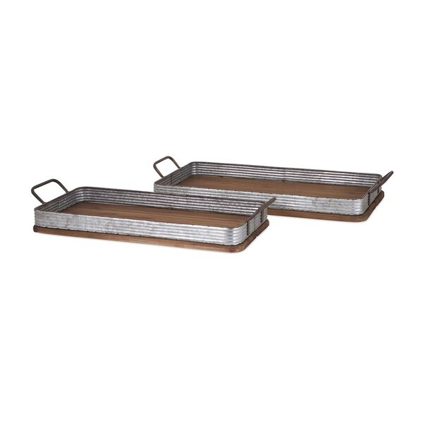 Jarvis Decorative Wood Trays (Set of 2)