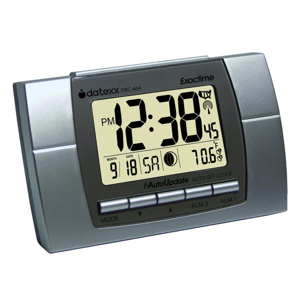 Teledex inc Silver Plastic Atomic Calendar Clock with Extra-large Display