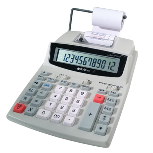 Teledex Multicolored ABS 12-digit LCD Display Business Printing Calculator with Calendar
