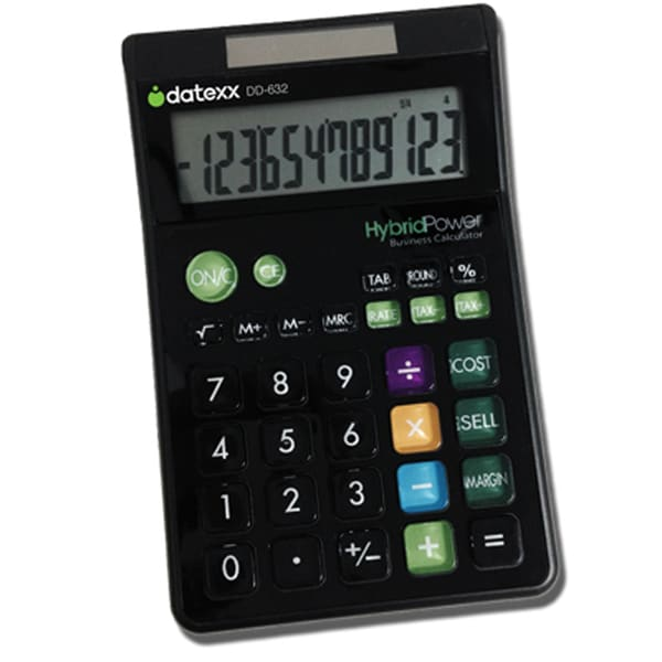 Datexx 12-digit Designer Large Desktop Calculator with Cost-sell-margin Feature