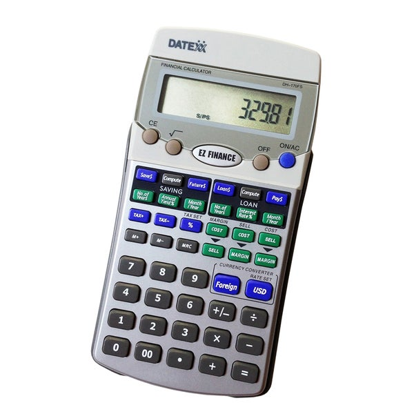 Teledex Inc EZ Silver Financial Calculator
