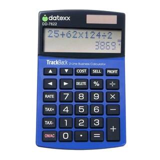 2-line Profit Manager Slim Desktop Calculator with TrackBack Journal