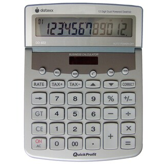 12-digit Desktop Calculator with 100-entry TrackBack, Profit Analyst, Tax+, Tax-, and Grand Total
