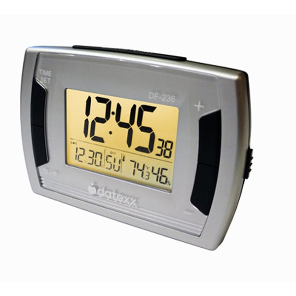 Desk Alarm Clock and Calendar with Temperature/Humidity and Bright Back Light