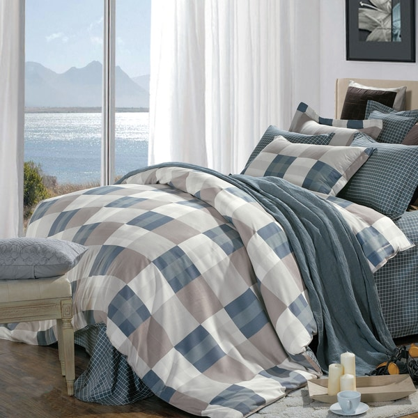 North Home Emma Cotton 4-piece Queen Duvet Cover Set
