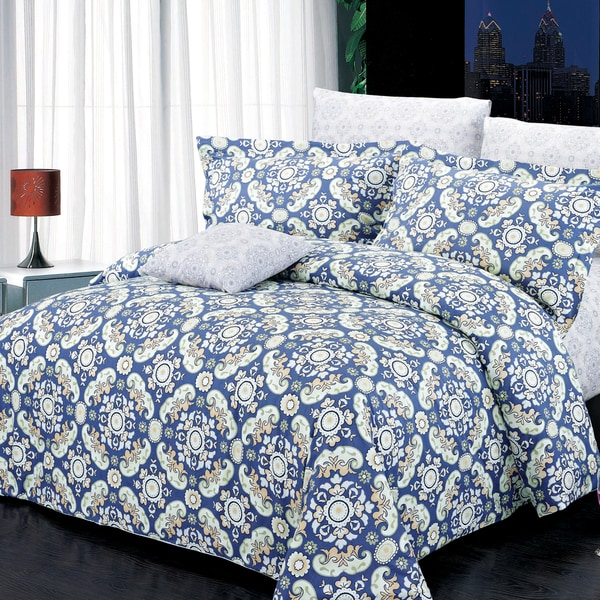 North Home Harper 100-percent Cotton 4-piece Duvet Cover Set