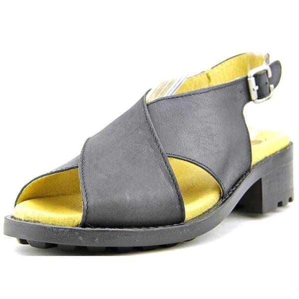 Eric Michael Women's Sicily Black Leather Sandals
