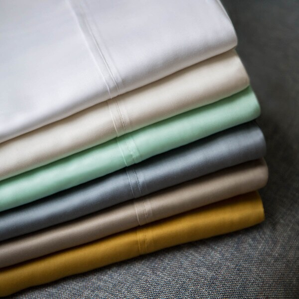 Malouf Woven Tencel Standard/Queen/King 2-piece Pillowcase Set