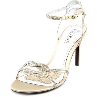 Lauren Ralph Lauren Women's Stephanie Gold Textile Basic Dress Shoes