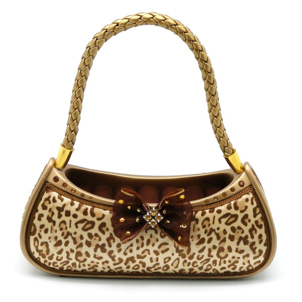 Teen Collection Black/Brown Ceramic Cheetah Purse