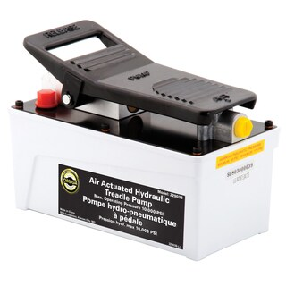 Omega 22903 Black 91.5-cubic inch 10000-PSI Air Actuated Hydraulic Treadle Pump