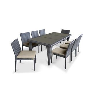 Urban Furnishing Beige PVC Wicker 9-piece Outdoor Patio Dining Set