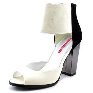 C Label Women's Alix-5 Black/White Faux Suede Dress Shoes