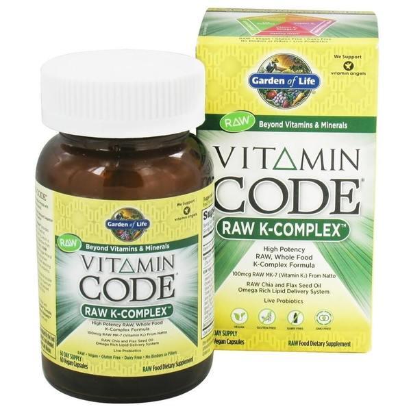 Garden of Life Vitamin Code Raw K-complex (60 Vegan Capsules)