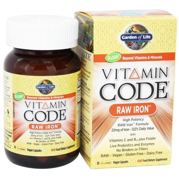Garden of Life Vitamin Code Raw Iron (30 Vegan Capsules)