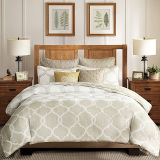 Harbor House Gentry Neutral Cotton Duvet Cover