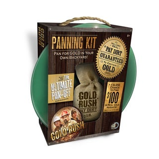 Gold Rush Panning Kit with Half Pound of Dirt
