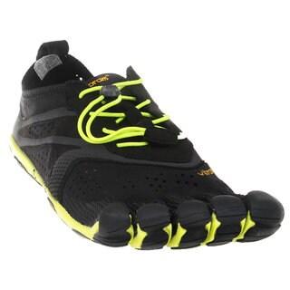 Vibram Men's Fivefingers V-RUN Black/Yellow Rubber Shoes