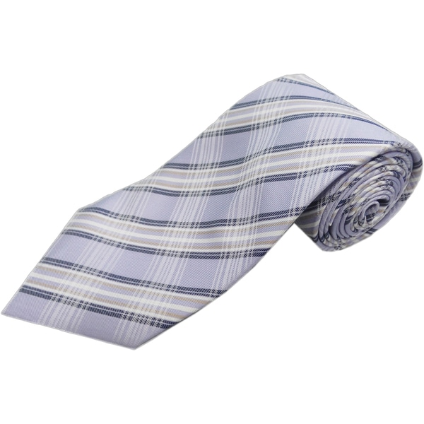 Verno Lilac Glen Plaid Handmade Silk Tie
