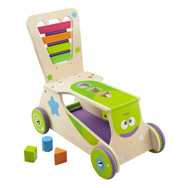 Boikido Wooden 2 in 1 Walker Ride-on
