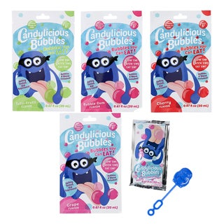 Candylicious Bubbles with Wand 4 Pack