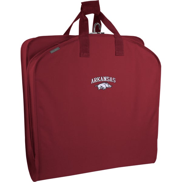 Wally Bags Arkansas Razorbacks Red Polyester 40-inch Travel Garment Bag