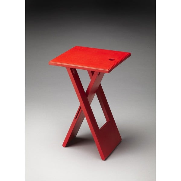 Butler Hammond Red Wooden Folding Table