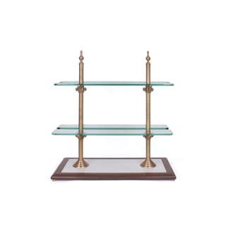 Hip Vintage Metal/Glass/Wood Chocolatiere Stand